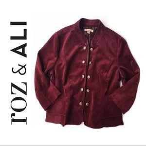 Roz & Ali • Cropped Corduroy Blazer